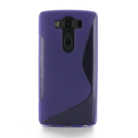 Soft Plastic Case for LG V10 (Purple S Shape pattern)