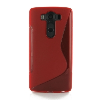 Soft Plastic Case for LG V10 (Red S Shape pattern)