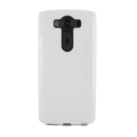 Soft Plastic Case for LG V10 (White S Shape pattern)