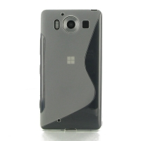 Soft Plastic Case for Microsoft Lumia 950 (Translucent S Shape pattern)