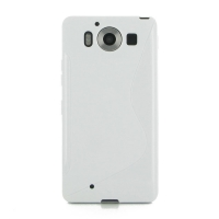 Soft Plastic Case for Microsoft Lumia 950 (White S Shape pattern)