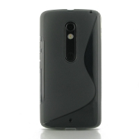Soft Plastic Case for Motorola Moto X Play (Grey S Shape pattern)