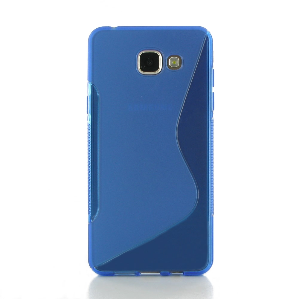 samsung galaxy a5 2016 soft case blue s shape pattern. Black Bedroom Furniture Sets. Home Design Ideas