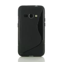 Soft Plastic Case for Samsung Galaxy J1 (2016) (Black S Shape pattern)