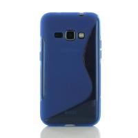 Soft Plastic Case for Samsung Galaxy J1 (2016) (Blue S Shape pattern)