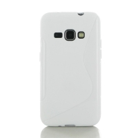 Soft Plastic Case for Samsung Galaxy J1 (2016) (White S Shape pattern)