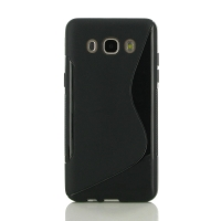 Soft Plastic Case for Samsung Galaxy J5 (2016) (Black S Shape pattern)
