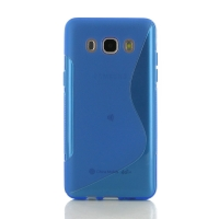 Soft Plastic Case for Samsung Galaxy J5 (2016) (Blue S Shape pattern)
