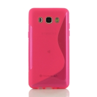 Soft Plastic Case for Samsung Galaxy J5 (2016) (Pink S Shape pattern)