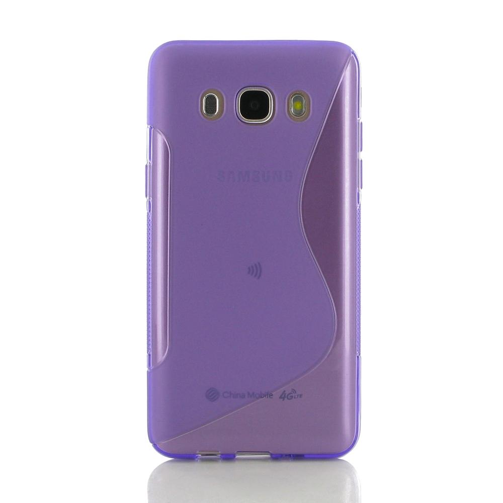 samsung galaxy j5 2016 soft case purple s shape pattern. Black Bedroom Furniture Sets. Home Design Ideas