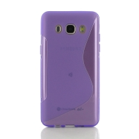 Soft Plastic Case for Samsung Galaxy J5 (2016) (Purple S Shape pattern)