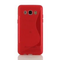 Soft Plastic Case for Samsung Galaxy J5 (2016) (Red S Shape pattern)