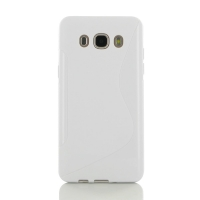 Soft Plastic Case for Samsung Galaxy J5 (2016) (White S Shape pattern)