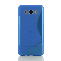 Soft Plastic Case for Samsung Galaxy J7 (2016) (Blue S Shape pattern)
