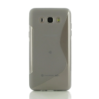 Soft Plastic Case for Samsung Galaxy J7 (2016) (Grey S Shape pattern)