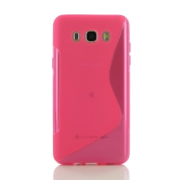 Soft Plastic Case for Samsung Galaxy J7 (2016) (Pink S Shape pattern)