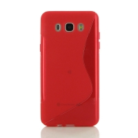 Soft Plastic Case for Samsung Galaxy J7 (2016) (Red S Shape pattern)
