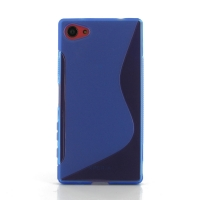 Soft Plastic Case for Sony Xperia Z5 Compact (Blue S Shape pattern)