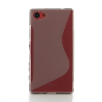 Soft Plastic Case for Sony Xperia Z5 Compact (Grey S Shape pattern)