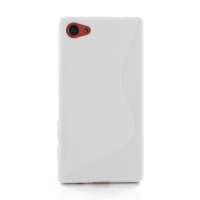 Soft Plastic Case for Sony Xperia Z5 Compact (White S Shape pattern)