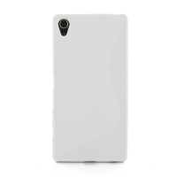 Soft Plastic Case for Sony Xperia Z5 Premium (White S Shape pattern)