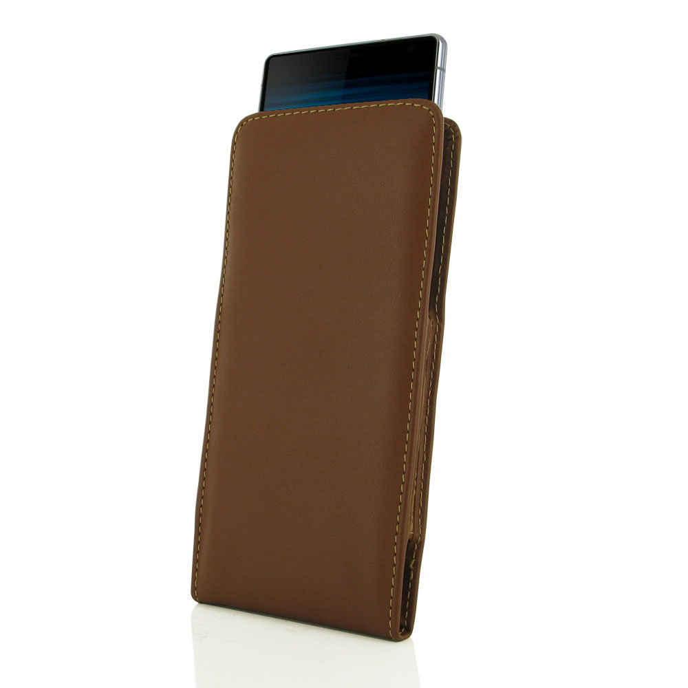 10% OFF + FREE SHIPPING, Buy the BEST PDair Handcrafted Premium Protective Carrying Sony Xperia 10 Plus Leather Sleeve Pouch Case (Brown). Exquisitely designed engineered for Sony Xperia 10 Plus.