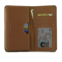 Leather Card Wallet for Sony Xperia L3 (Brown)