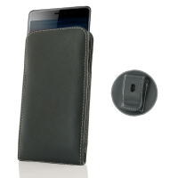 Leather Vertical Pouch Belt Clip Case for Sony Xperia L3