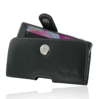 Leather Horizontal Pouch Case with Belt Clip for Sony Xperia X