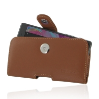 Leather Horizontal Pouch Case with Belt Clip for Sony Xperia X (Brown)