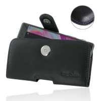Leather Horizontal Pouch Case with Belt Clip for Sony Xperia X (Purple Stitch)