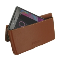 Leather Wallet Pouch for Sony Xperia X (Brown)