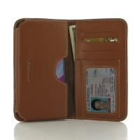Leather Card Wallet for Sony Xperia X (Brown)