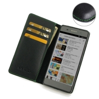 10% OFF + FREE SHIPPING, Buy Best PDair Quality Handmade Protective Sony Xperia XA Genuine Leather Smart Flip Wallet Case (Green Stitch) online. You also can go to the customizer to create your own stylish leather case if looking for additional colors, pa