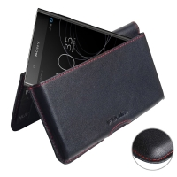 10% OFF + FREE SHIPPING, Buy the BEST PDair Handcrafted Premium Protective Carrying Sony Xperia XA1 Plus Leather Wallet Pouch Case (Red Stitch). Exquisitely designed engineered for Sony Xperia XA1 Plus.