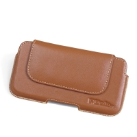 Luxury Leather Holster Pouch Case for Sony Xperia XZ1 Compact (Brown)
