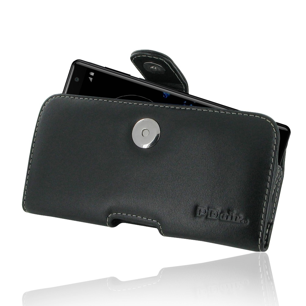 Leather Horizontal Pouch Case with Belt Clip for Sony Xperia XZ2