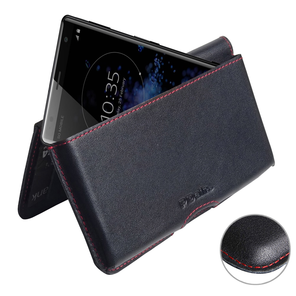 10% OFF + FREE SHIPPING, Buy the BEST PDair Handcrafted Premium Protective Carrying Sony Xperia XZ2 Leather Wallet Pouch Case (Red Stitch). Exquisitely designed engineered for Sony Xperia XZ2.