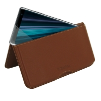 10% OFF + FREE SHIPPING, Buy the BEST PDair Handcrafted Premium Protective Carrying Sony Xperia XZ3 Leather Wallet Pouch Case (Brown). Exquisitely designed engineered for Sony Xperia XZ3.