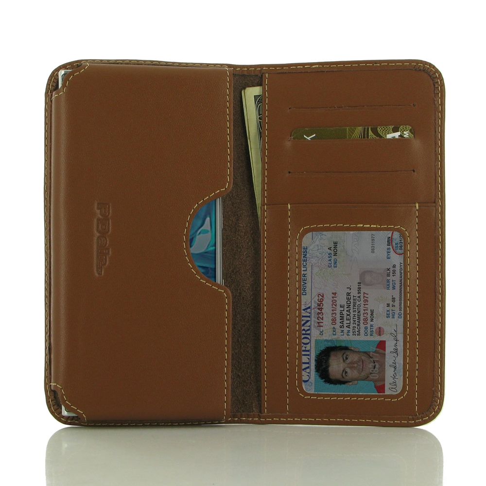 Leather Card Wallet for Sony Xperia XZs (Brown)