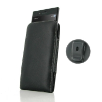 Leather Vertical Pouch Belt Clip Case for Sony Xperia XZs