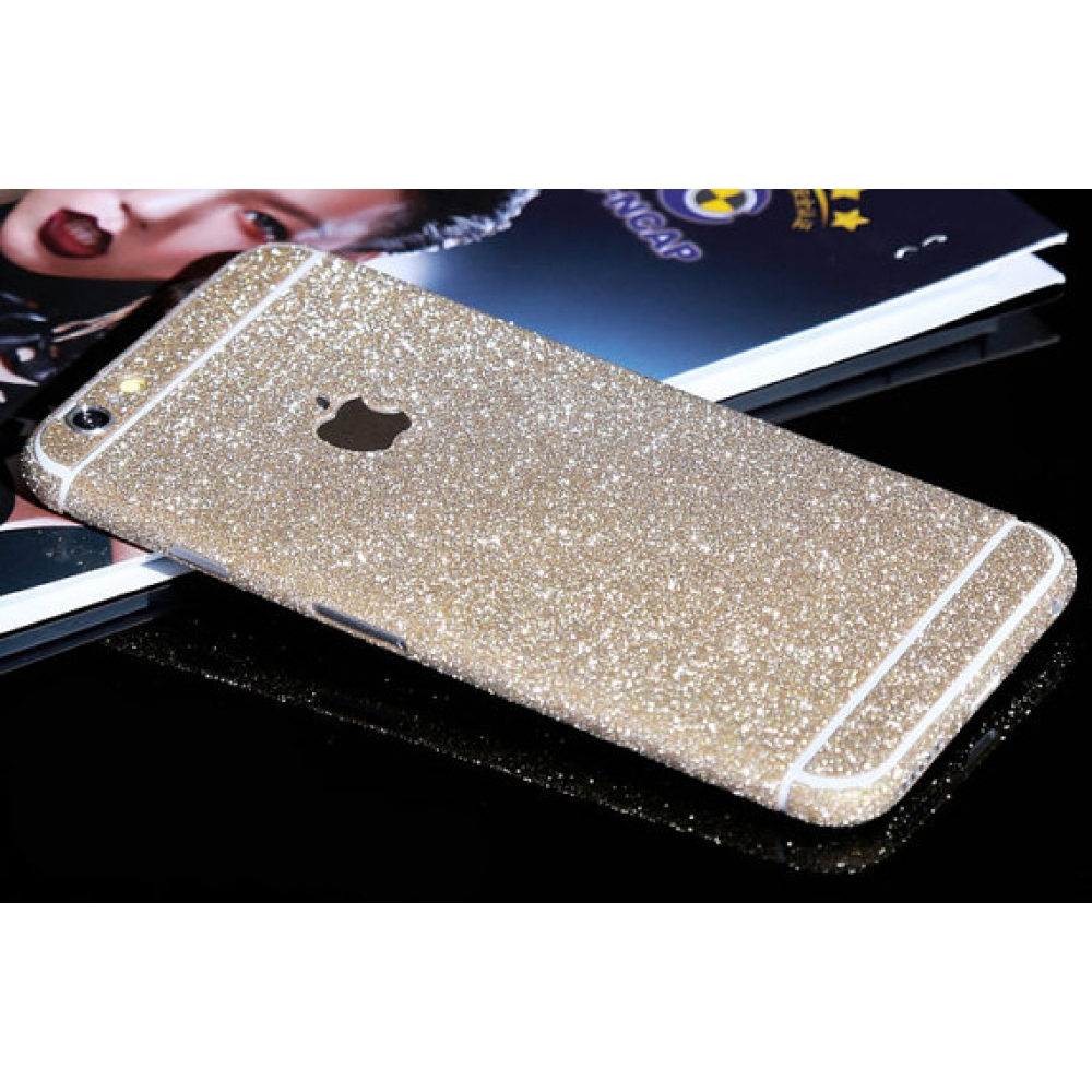 10% OFF + FREE SHIPPING, Buy PDair Top Quality Sparkle iPhone Decal Wrap Skin Set Champagne which is available for iPhone 6 | iPhone 6s, iPhone 6 Plus | iPhone 6s Plus, iPhone 5 | iPhone 5s SE You also can go to the customizer to create your own stylish l
