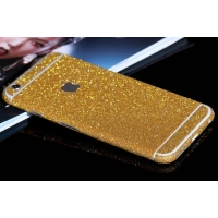 Sparkle iPhone 6s 6 Plus Decal Wrap Skin Set (Gold)