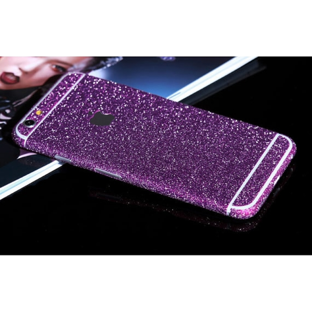 10% OFF + FREE SHIPPING, Buy PDair Top Quality Sparkle iPhone Decal Wrap Skin Set (Purple) which is available for iPhone 6 | iPhone 6s, iPhone 6 Plus | iPhone 6s Plus, iPhone 5 | iPhone 5s SE. You also can go to the customizer to create your own stylish l
