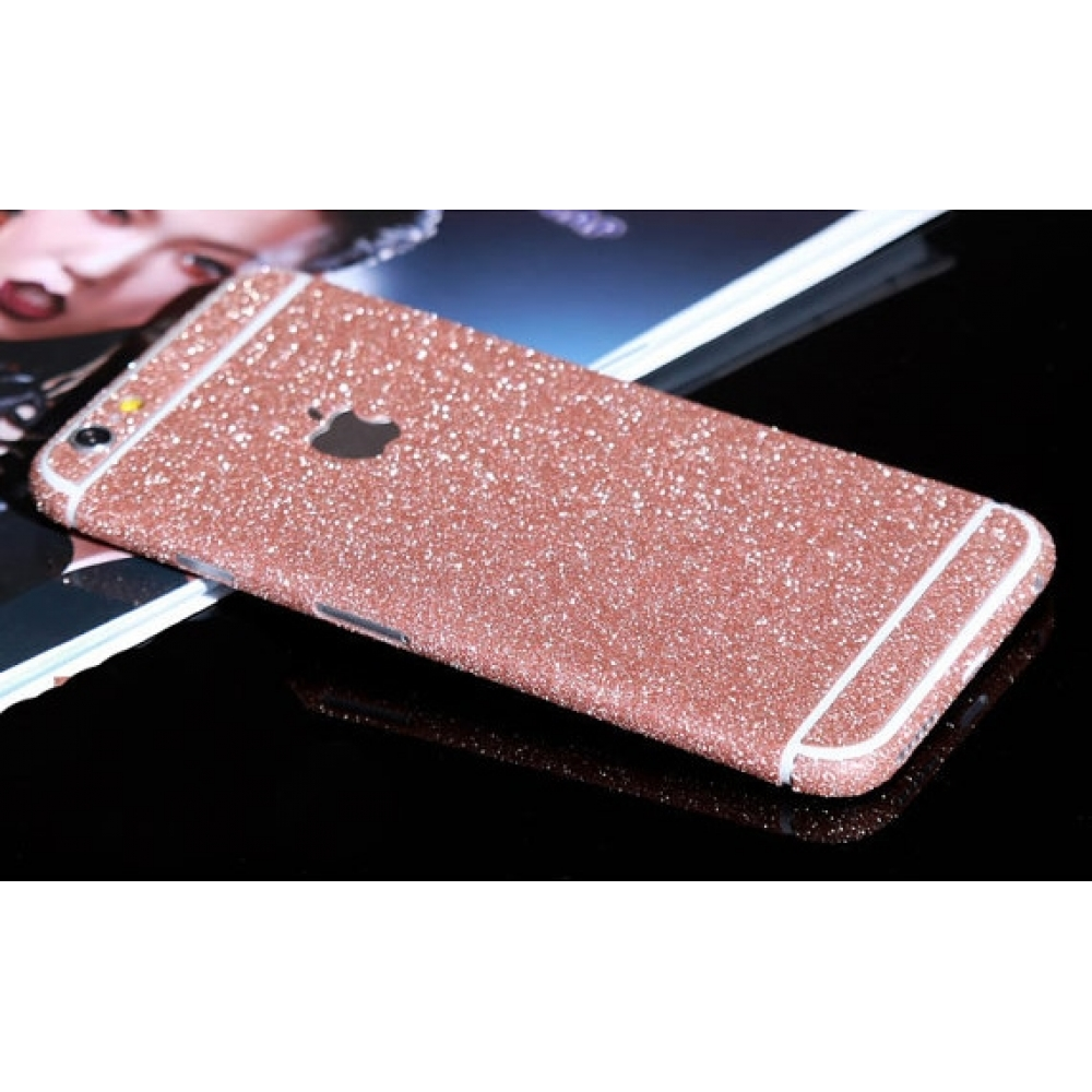 10% OFF + FREE SHIPPING, Buy PDair Top Quality Sparkle iPhone Decal Wrap Skin Set Rose Pink which is available for iPhone 6   iPhone 6s, iPhone 6 Plus   iPhone 6s Plus, iPhone 5   iPhone 5s SE You also can go to the customizer to create your own stylish l