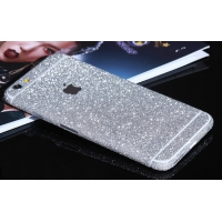 Sparkle iPhone 6s 6 Plus Decal Wrap Skin Set (Silver)
