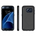 Samsung Galaxy S7 edge Hybrid Combo Aegis Armor Case Cover Black PDair protective carrying case by PDair