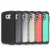 Samsung Galaxy S7 edge Hybrid Combo Aegis Armor Case Cover Grey PDair top quality leather case by PDair