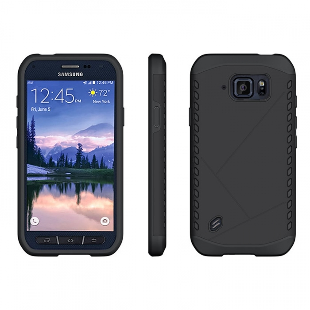 samsung galaxy s6 active hybrid combo aegis armor case cover black. Black Bedroom Furniture Sets. Home Design Ideas