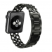 Apple Watch Series 5 | Series 4 44mm Stainless Steel Metal Cowboy Chain Strap Wrist Band (Black) is designed to wear fashionable look to your device. Cowboy Style Design looks elegant and luxury,Good replacement band for leather, nylon and other metal app